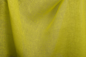 100%linen fabric bright yellow transparent. Made by Siulas, Lithuania, Europe