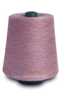 Linen flax yarn in lilac violet color - Linen Fashion by Siulas
