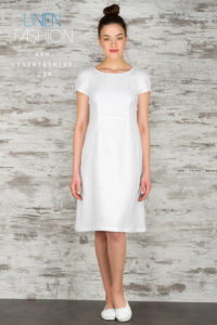 100% linen dress in white color - Linen Fashion by Siulas