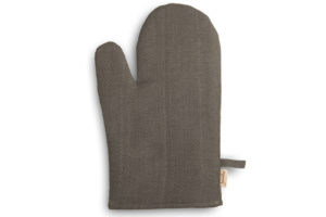 "Linen kitchen glove in grey brown color. Produced by AB ""Siulas"""