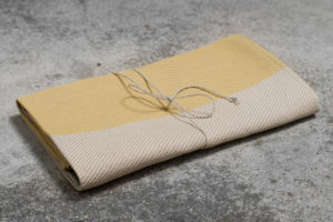 "Yellow and grey linen kitchen towel. Manufacturer: AB ""Siulas"""