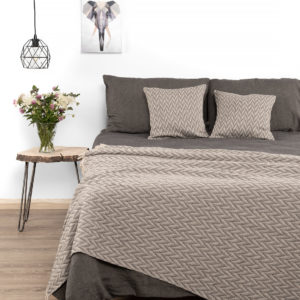 Linen bedding in dark grey: bed sheet (fitted or flat), duvet cover and a pillowcase Manufacturer: AB 'Siulas'