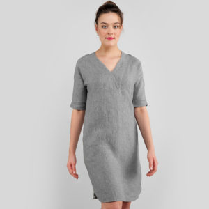 "Linen dress in grey color. Manufacturer: AB ""Siulas"""