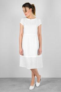 "White linen dress. Manufacturer: AB ""Siulas"""
