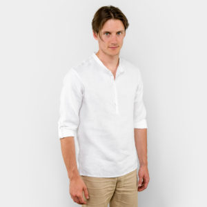 "Linen white shirt for men. Manufacturer: AB ""Siulas"""