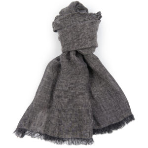 "Grey black linen shawl. Manufacturer: AB ""Siulas"", Lithuania"