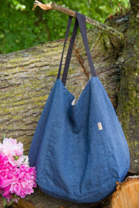 "Linen two-sided bag, blue-grey. Manufacturer: AB ""Siulas"""