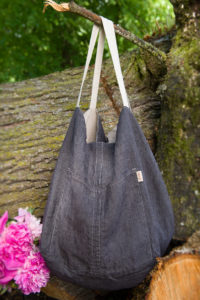 """Linen grey two-sided bag. Manufacturer: AB """"Siulas"""""""